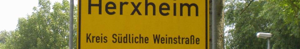 Herxheim Otsschild Öffnungszeiten